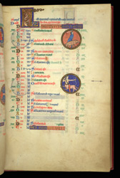 November, In The Calendar Of A Psalter Preceded By Miniatures And A Calendar